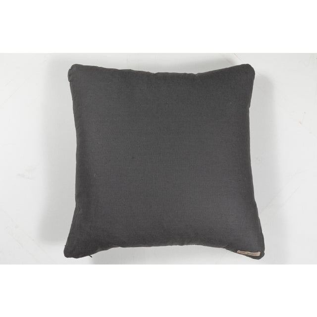Indian Handwoven Textile Pillow For Sale - Image 4 of 5