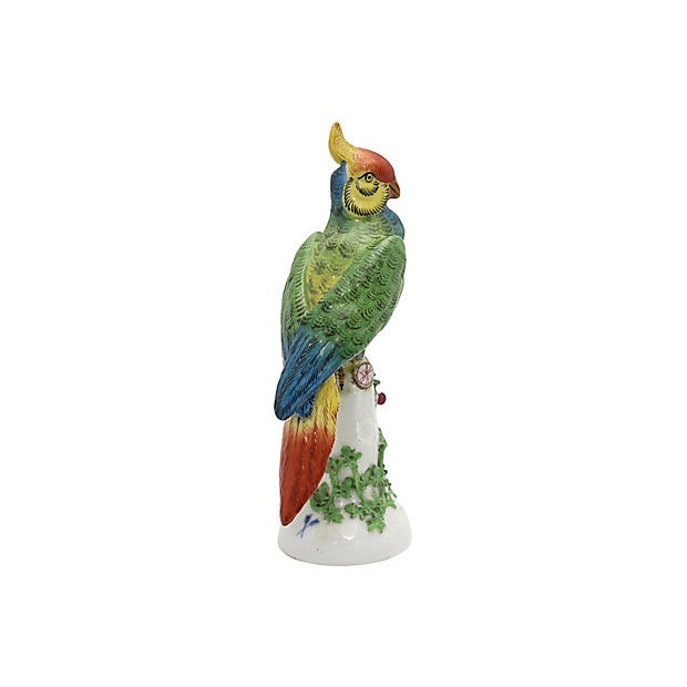 French 19th Century Antique French Paris Porcelain Parrot For Sale - Image 3 of 7