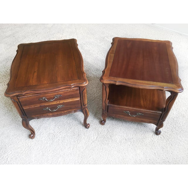 French Vintage Hammary End Tables- Set of 2 For Sale - Image 3 of 5