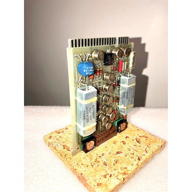 Mid-Century, Vintage Television Circuit Board Sculpture by Bill Reiter For Sale - Image 9 of 10