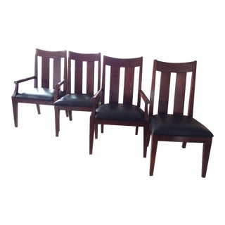 Ethan Allen Horizons Casual Elegance - Set of 4 ( Two Side Chairs, Two Arm Chairs) For Sale