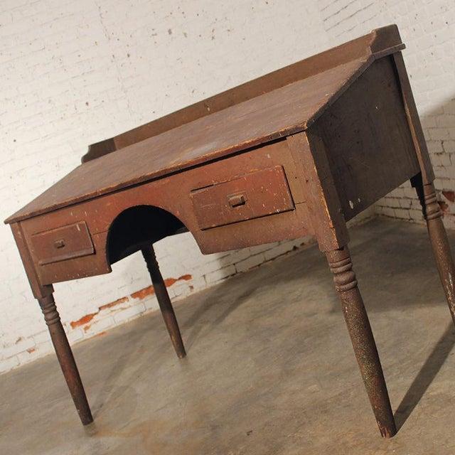 Antique Primitive Wooden Standing Desk For Sale - Image 7 of 10 - Antique Primitive Wooden Standing Desk Chairish