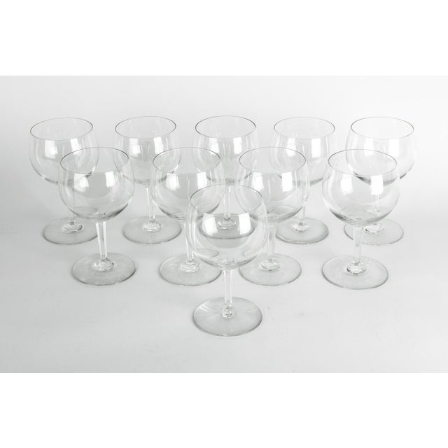 Crystal Mid-20th Century Baccarat Crystal Drinks Glassware - Set of 10 For Sale - Image 7 of 7