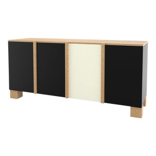 Contemporary 100 Storage in Oak and Black and White by Orphan Work, 2019 For Sale