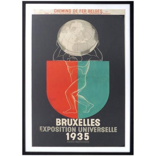1935 Leo Marfurt Bruxelles Exposition Poster For Sale