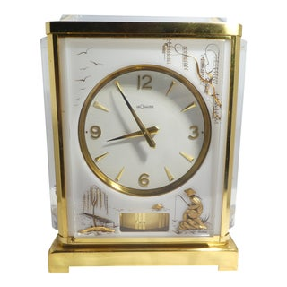 Jaeger Le Coultre Chinoiserie Marina Clock For Sale