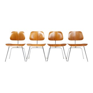 1960s Vintage Herman Miller Eames Dcm Chairs - Set of 4 For Sale