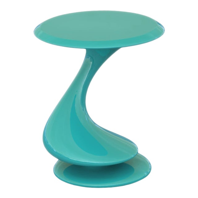 Accent Table No. 5 by Chris Delmar in Aquamarine For Sale