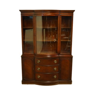 Drexel Furniture New Travis Court Collection Cherry Duncan Phyfe China Cabinet For Sale