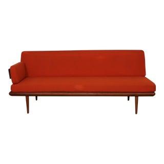 Mid-Century Modern John Stuart Minerva Orange Upholstered Daybed