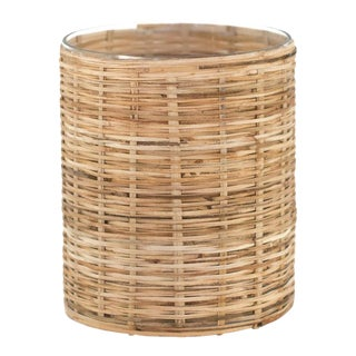 Small Wicker Hurricane Lantern