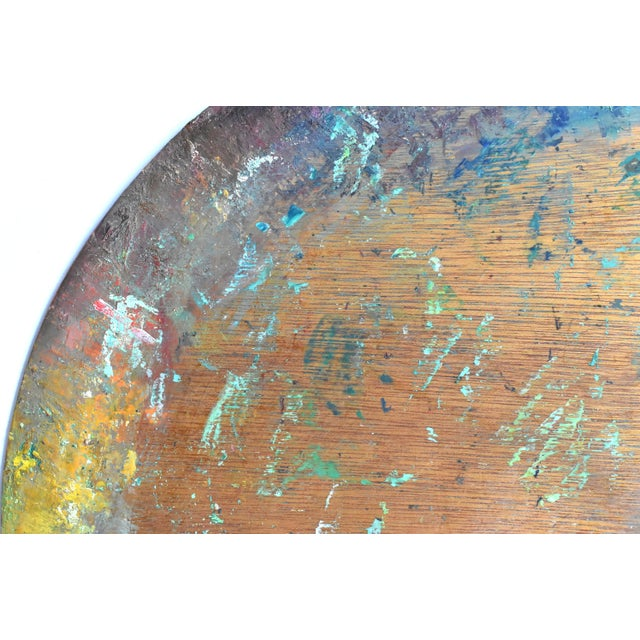 Mid 20th Century Vintage Large Mid-Century Artist's Palette For Sale - Image 5 of 7