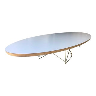 Mid-Century Modern Surfboard Table an Elongated Elliptical Coffee Table For Sale