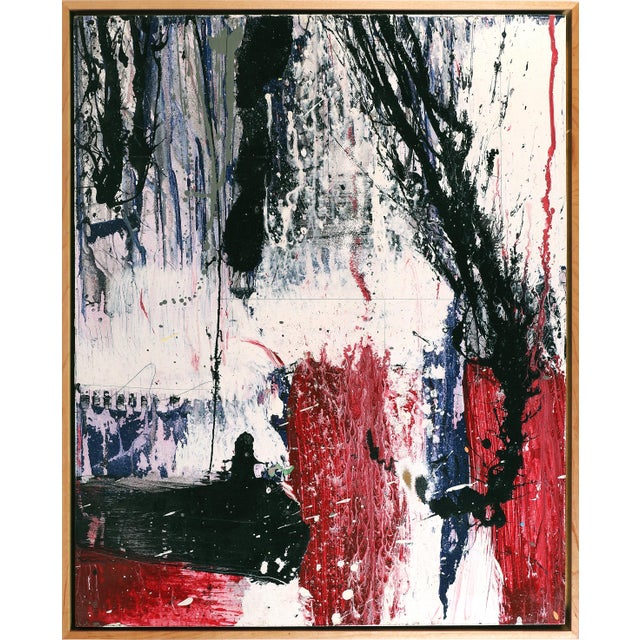 """2010s Abstract """"Space Talk"""" Painting by William Phelps Montgomery, 2019 For Sale - Image 5 of 5"""