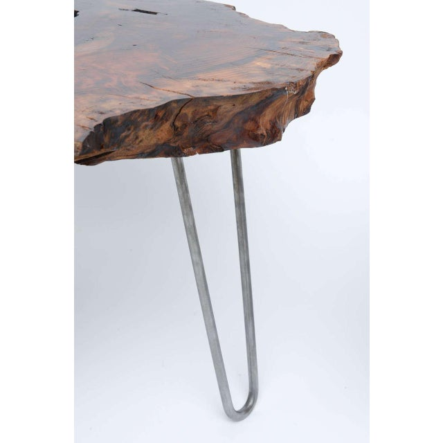 Brown Gorgeous Redwood Tables For Sale - Image 8 of 10