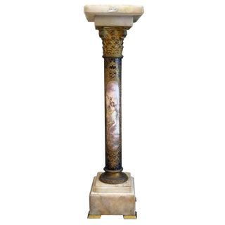 Antique French Porcelain Pedestal For Sale