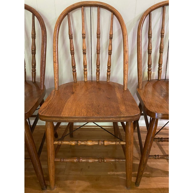 American Antique Bow Back Windsor Chairs - Set of 10 For Sale - Image 3 of 12
