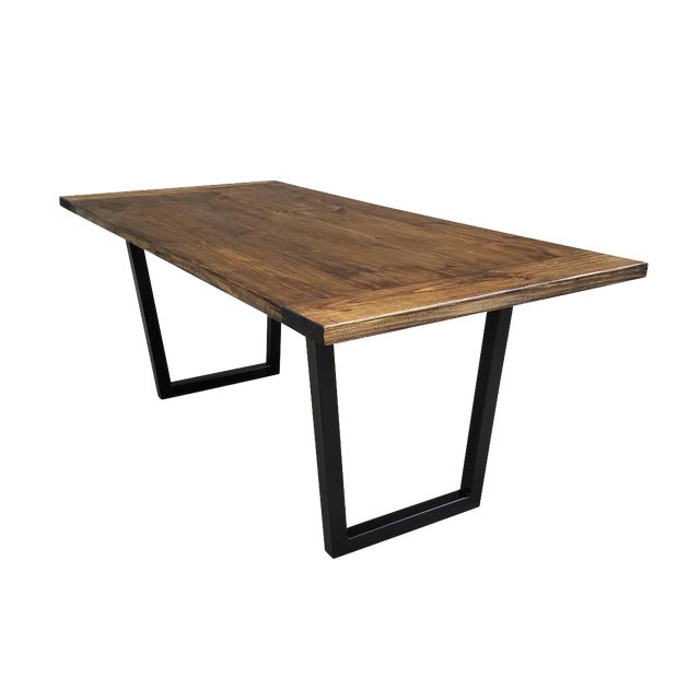 Modern Industrial Dining Table - Image 1 of 5