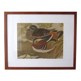 Vintage Asian Bird Print For Sale