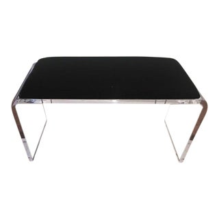 Scout Acrylic and Black Velvet Bench