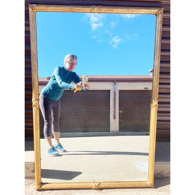 1950s Large Gold Leaf Framed Mirror For Sale - Image 13 of 13