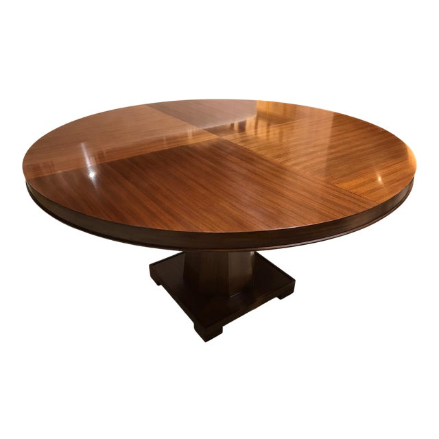 Barbara Barry for Henredon Arts and Crafts Ascot Mahogany Dining Table For Sale