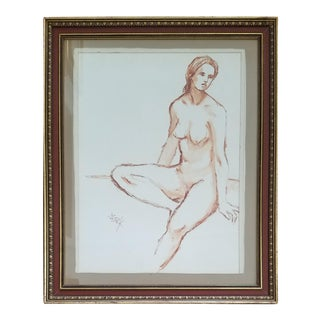 Barbara R. Katz Watercolor Nude Painting