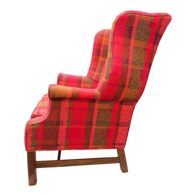 Mid 20th Century Vintage Mid-Century Flexsteel Georgian Style Wingback Chair For Sale - Image 5 of 13