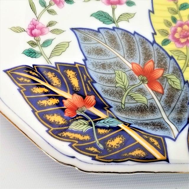 Blue Vintage Japanese Porcelain Tobacco Leaf Tray - Signed 1977 For Sale - Image 8 of 12