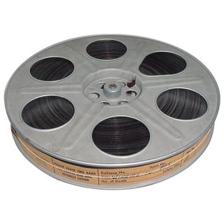 Vintage 35MM Movie Reel with Sound Motion Picture Film. Circa Mid 20th Century. Display As Sculpture For Sale