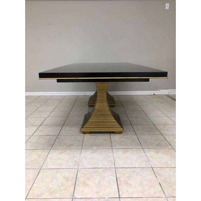 """Bernhardt Bernhardt """"Jet Set"""" Dining Table & 8 Chairs For Sale - Image 4 of 13"""