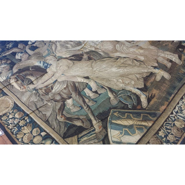 Belgian Antique Brussels Tapestry For Sale - Image 3 of 3