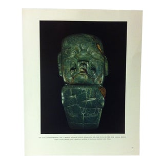 """Circa 1960 """"The Kunz Anthropomorphic Axe"""" Treasures of Ancient America Mounted Print For Sale"""