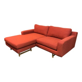 Contemporary West Elm Eddy Small Reversible Sectional - 2 Pieces