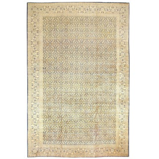 Oversized Antique Persian Tabriz Rug - 13′2″ × 20′4″ For Sale