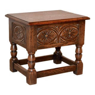 19th C English Lift-Top Stool For Sale