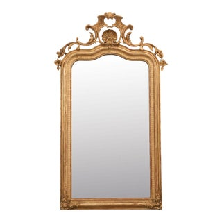 Early 19th Century French Louis XV Style Gold Gilt Mantel Mirror For Sale