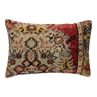 60 Year Old Vintage Moroccan Flat Weave Accent Pillow For Sale