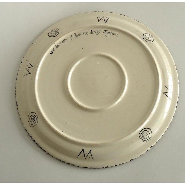 African 1997 African Safari Penzo of Zimbabwe Pottery Platter For Sale - Image 3 of 5