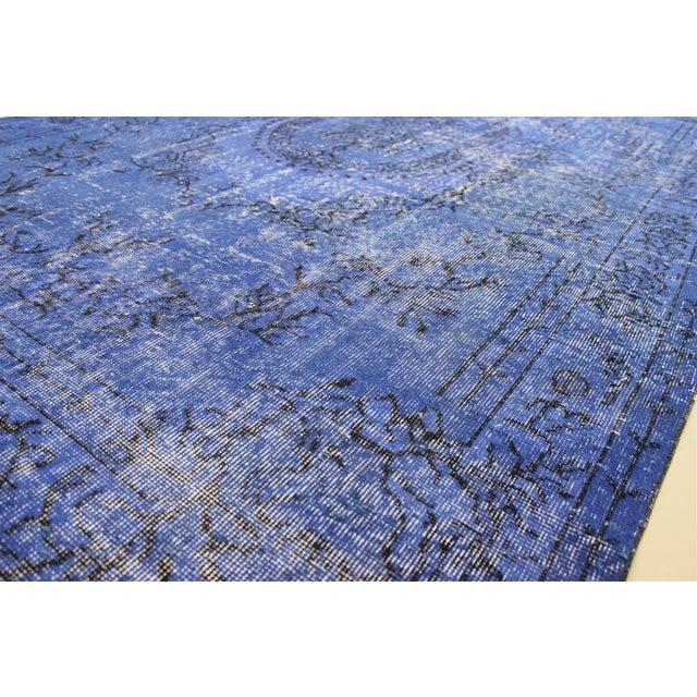 Dark Blue Turkish Over-Dyed Rug - 6′1″ × 10′4″ - Image 7 of 9