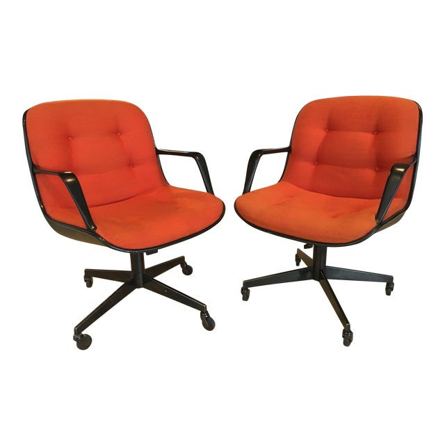 """Steelcase Rolling """"Pollack"""" Swivel Office Chairs - Image 1 of 11"""