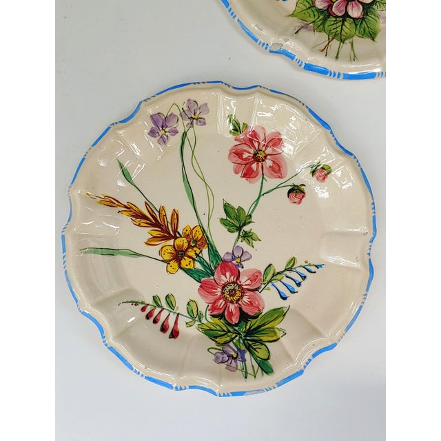 1930s Nove Rose Plates - Set of 6 For Sale - Image 4 of 7