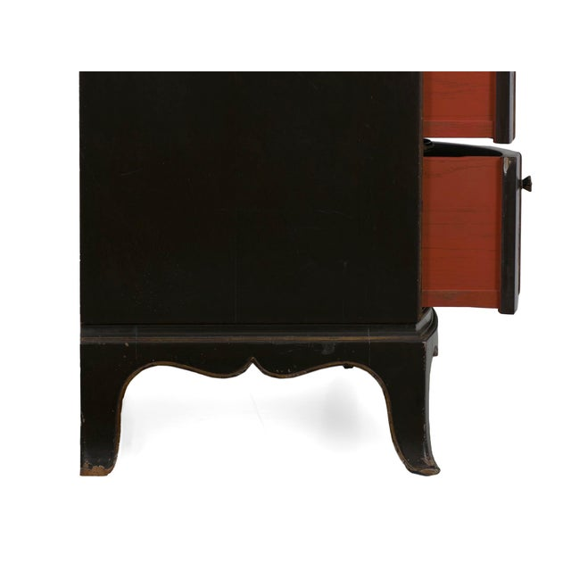 Art Deco Chinoiserie Mirrored Top Chest of Drawers Dresser Circa 1940s For Sale - Image 12 of 13