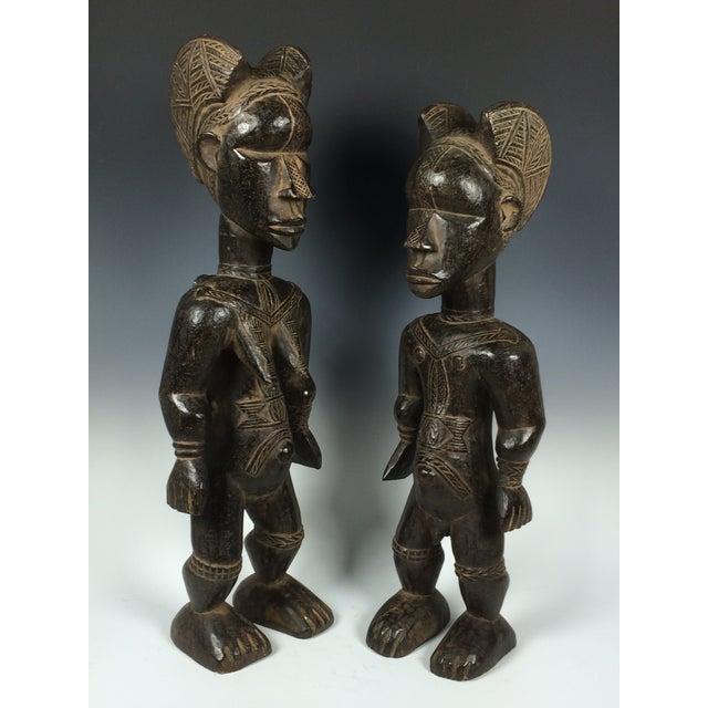 Ivory Coast African Dan Statues - A Par - Image 2 of 11