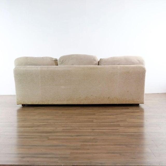 Textile Henredon Upholstered Ivory Sofa For Sale - Image 7 of 11