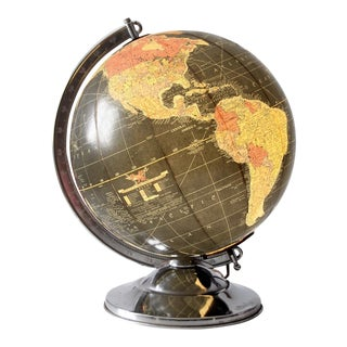 Mid-Century Replogle Illuminated Globe For Sale