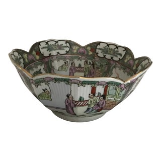 1960s Vintage Hand-Painted Famille Rose Bowl/Reduced (Final) For Sale