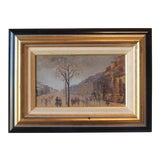 Image of Original French Street Scene Painting For Sale