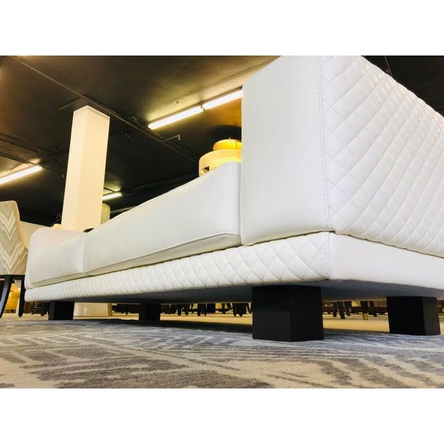 21st Century C&b Italia Gurian White Leather Italian Sofa For Sale - Image 10 of 13
