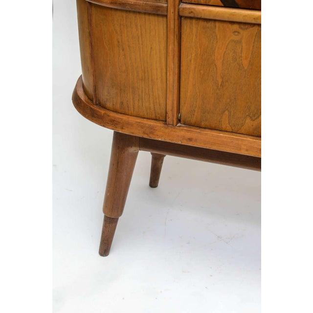 Brown Italian Modern Ash, Walnut, Olivewood, Mahogany Bar Cabinet, Luigi Scremin For Sale - Image 8 of 8